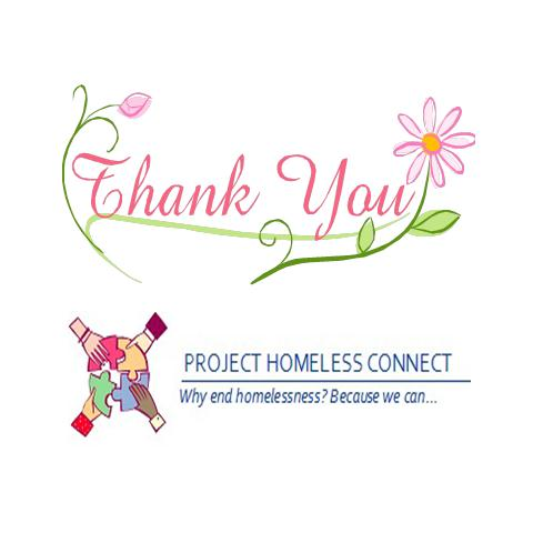 Thank you to Project Homeless Connect Volunteers